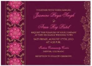 wedding invitation free indian wedding invitation wording etiquette indian wedding