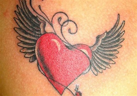 29 lovely heart with wings tattoo for 2013 creativefan