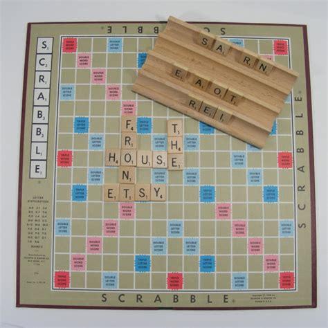 antique scrabble board vintage scrabble board tiles box 1976