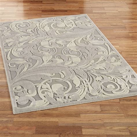 Tantalizing Graphic Scroll Gray Area Rugs Area Rug