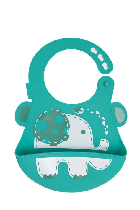 And Silicone Divided Plate Giraffe Elephant baby bib