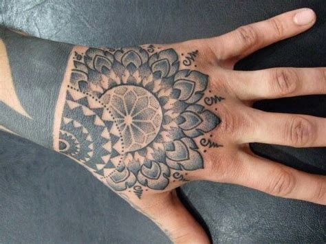 mandala hand tattoo on mandala owl tattoos and mandala