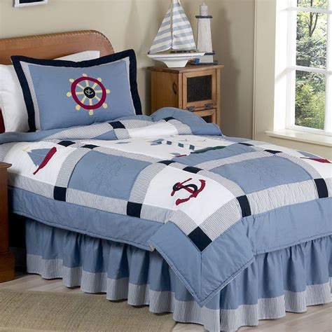 sweet jojo designs boys 4 piece nautical twin comforter