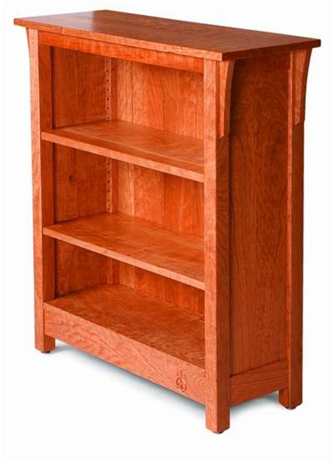 plan arts  crafts bookcase finewoodworking