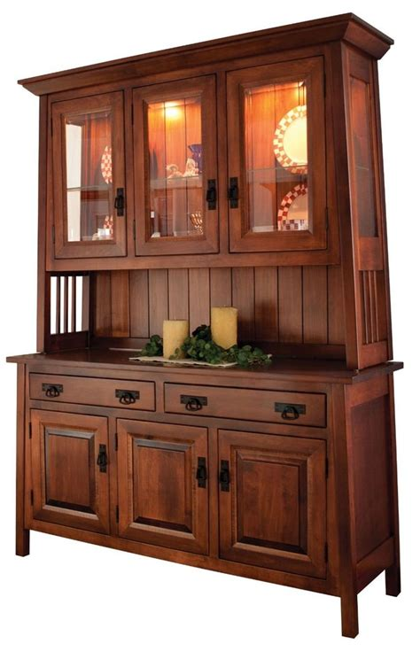 hutch cabinets dining room amish dining room mission hutch buffet server china cabinet solid wood inlay ebay