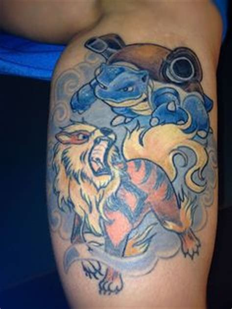 arcanine tattoo awesome gyarados seen on reddit things i like