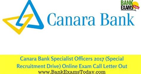 Canara Bank Joining Letter canara bank specialist officers 2017 special recruitment