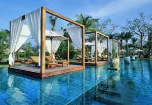 Pagoda Landscape Lighting - 12 unusual swimming pools