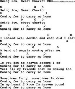 Swing Words Christian Childrens Song Swing Low Sweet Chariot Lyrics