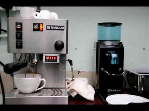 make an americano on rancilio silvia espresso machine from rancilio silvia with pre infusion pid youtube