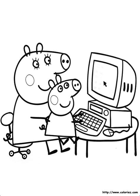 jogo peppa pig coloring pages coloriage ordinateur portable