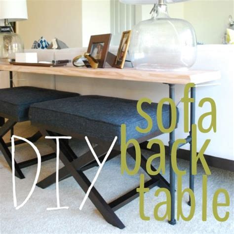 industrial pipe sofa table diy industrial sofa back table brass jones living