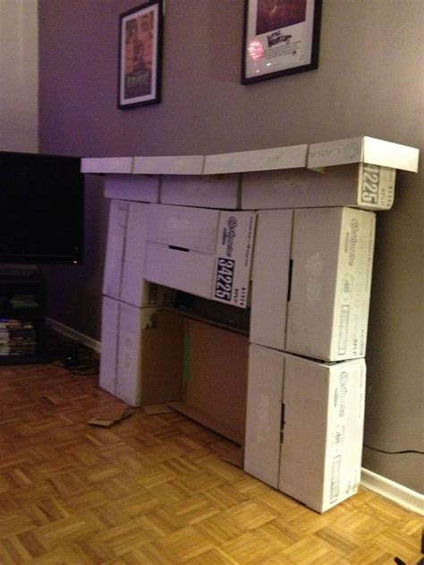 How To Make A Chimney Out Of Paper - 17 best ideas about cardboard fireplace on
