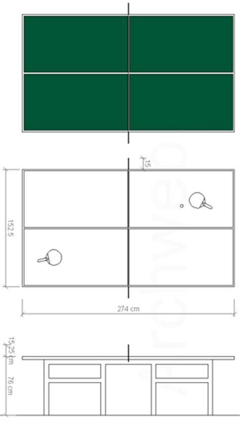 tavolo ping pong dimensioni ping pong 2d tennis da tavolo dwg