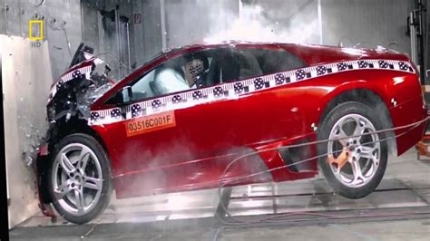 crashed red lamborghini lamborghini murcielago crash test hd youtube