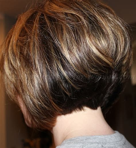 short layered bob for over 50s 2014 short hairstyles back view over 50