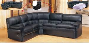 black leather contemporary sectional sofa with recliner