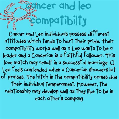 related keywords suggestions for leo and cancer relationship