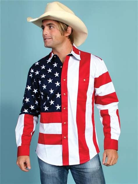 scully and scully ls mens western shirt patriot ii