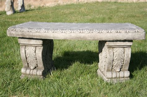 stone bench for garden garden bench heavy stone cast garden bench concrete