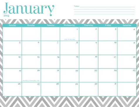 printable planner 2018 cute january 2018 calendar cute calendar for 2019