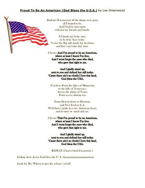 An American Lyrics Lyrics Proud To Be An American