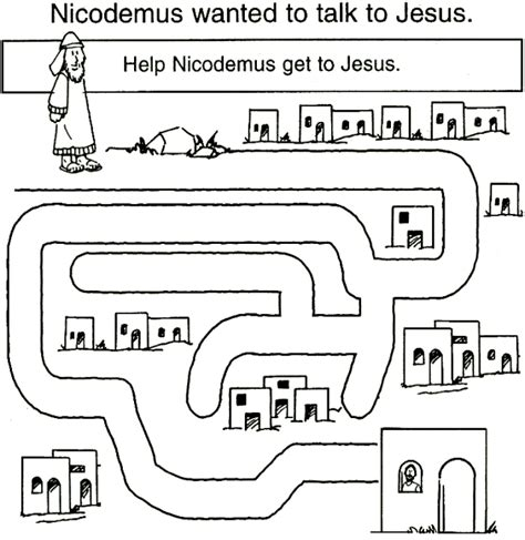 free coloring pages of nicodemus