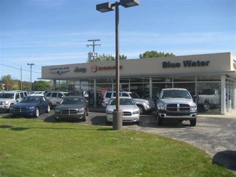 blue water chrysler dodge jeep port huron mi 48059 car