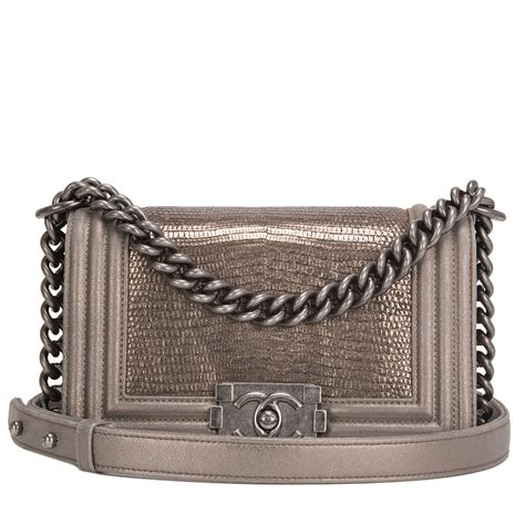 In The World Of Metallic Accessories Bronze A Clutch Named For An Equally Fashiontribes Fashion by Chanel Metallic Bronze Lizard Small Boy Bag World S Best