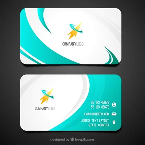 Swirly Business Card Template Vector Free Download How To Make A Business Card Template