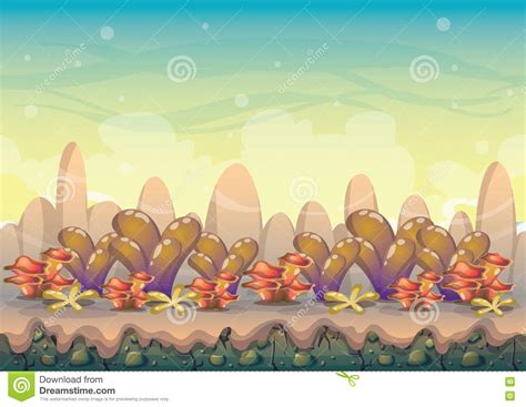 art design games online cartoon vector nature landscape background with separated
