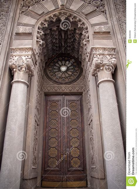 gothic door stock photo image  entrance ancient