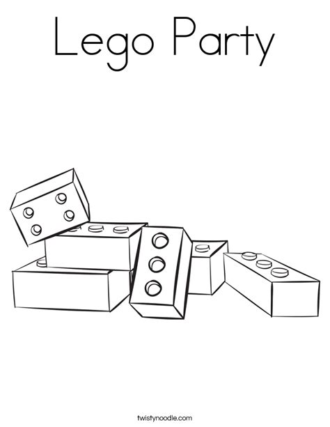 free coloring pages of blank lego man