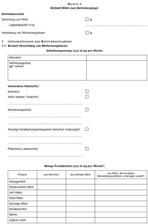 Vorlage Kündigung Arbeitsvertrag Zum 15 Anlage 6 Tier Lmhv Zu 167 9 Abs 1 Satz 2 Nr 1 Muster Tierische Lebensmittel Hygieneverordnung