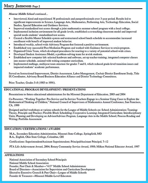 an effective sle of assistant principal resume