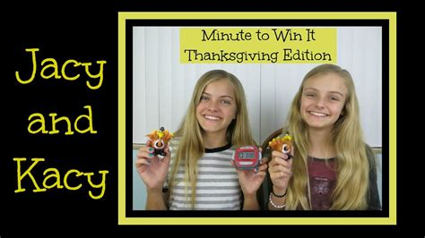 minute to win it challenges minute to win it challenge thanksgiving edition jacy