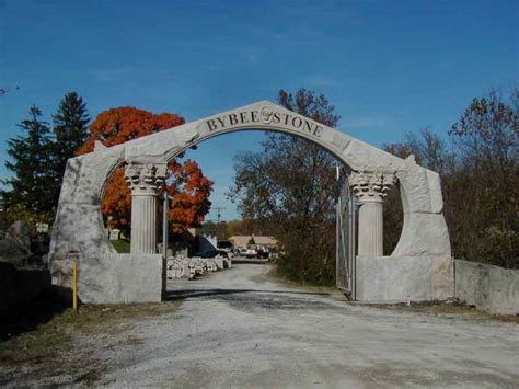 built from indiana limestone the quot t quot shaped lynnewood bybee stone company entrance arch