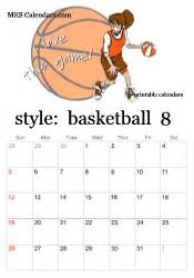 basketball calendar template printable basketball calendars customizable sports