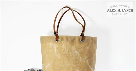American Apparels Cotton Canvas La Z Side Pocket Bag by Alex M Lynch Waxed Canvas Tote Bag Made In Usa By Alex M