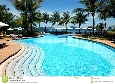 House Plans With Indoor Pools tropical resort with swimming pool stock image image
