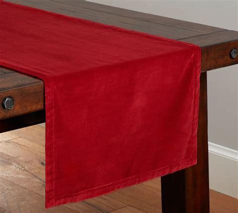 Velvet Table Runner by Velvet Table Runner Cherry Pottery Barn