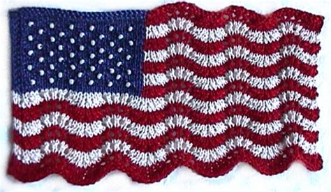 who knitted the american flag mini lace and beaded flag april knit heartstrings