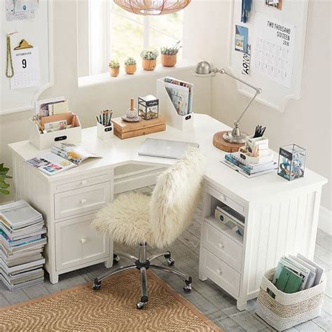 desks for teenage girls beadboard smart corner desk pbteen