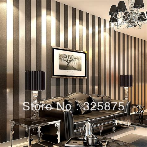 bedroom wallpaper stripes stripe zebra blackwall paper wallpaper roll modern feature vertical stripedwallpaper