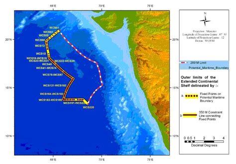 Continental Shelf Of India national institute of oceanography nio nio provides