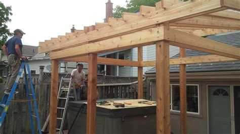 guys hot tub shelter project youtube