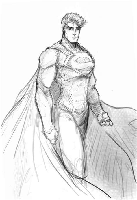 Sketches N by Superman Pencil Sketches Drawing Sketch Library