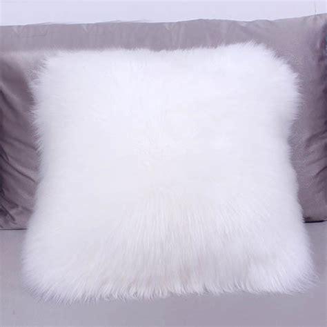 Sheepskin Throw Pillow by Sheepskin Pillow