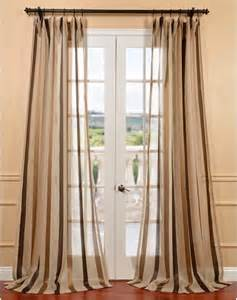 Taupe Color Curtains Carlton Taupe Linen Blend Stripe Sheer Curtain Panel Contemporary Curtains By Overstock