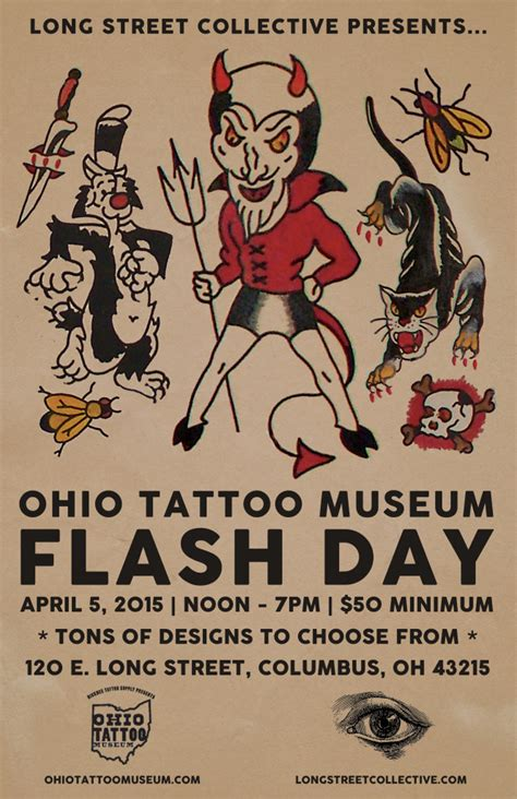ohio tattoo history museum lsc presents ohio tattoo museum flash day long street
